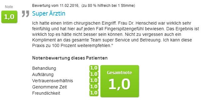 Intimchirurgie - Jameda Bewertung